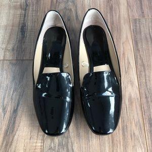 Zara Basic Collection Shiny Black Loafers